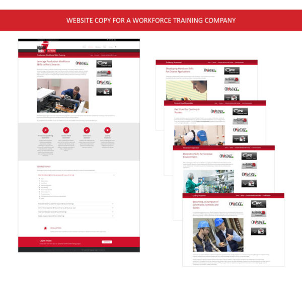 Web Copy – Workforce Training
